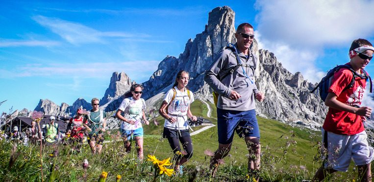 Trail running the Dolomites