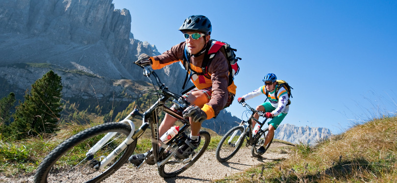 Mountain biking the Dolomites